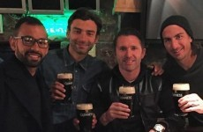 Robbie Keane took the LA Galaxy lads to the home of the black stuff last night