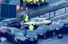 One dead, dozens injured in 40-car UK motorway pile-up