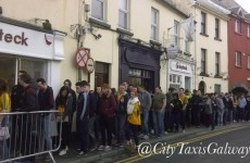 Here's the massive queue outside a Galway pub this morning for Donegal Tuesday