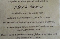 Bride gets revenge on her 'narcissistic' parents with super harsh wedding invitation