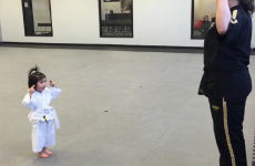 This 3-year-old karate student is impossibly cute