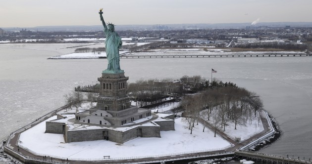 Manhattan surrounded by ice is the craziest - and most beautiful - thing you'll see today