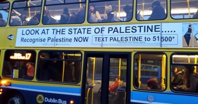 You'll be seeing billboards and bus ads about the State of Palestine from today