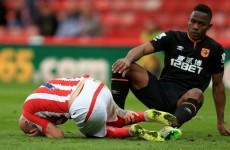 'Horrendous tackle' leaves Stephen Ireland needing 10 stitches in his leg