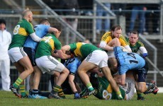 Kerry see off 14-man Dublin to win fiery league battle at home in Killarney