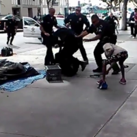 Video shows police shooting homeless man dead