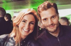 Jamie Dornan went to the Ireland rugby match and posed for about a zillion selfies