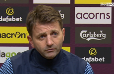 Sherwood: I wanted 3 points more than the missus winning the EuroMillions