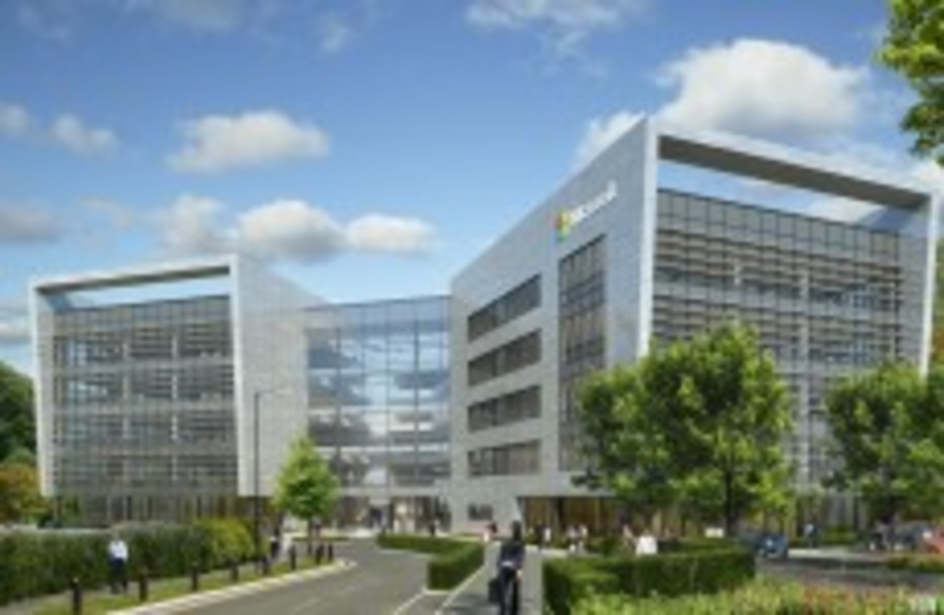 microsoft are set to build a spanking new 134 million campus in the two year project should create 150 construction jobs in the capital