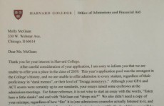 This Harvard rejection letter went super viral but it's totally fake