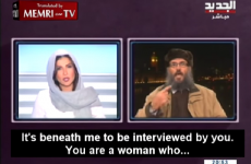 TV host shuts down guest who says being interviewed by a woman is beneath him