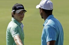 handing over the baton  rory and tiger good to go in