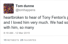 Tributes are already pouring in for much-loved DJ Tony Fenton