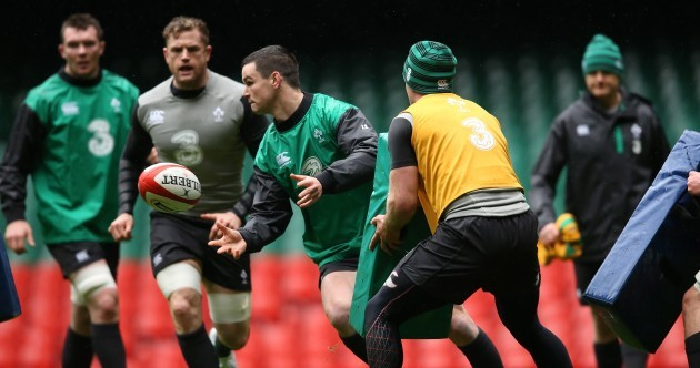 11 images as Ireland finalise preparations at the Captain's Run in the Millennium Stadium