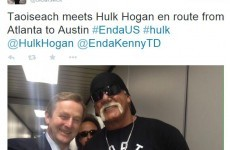 Look who Enda Kenny wrestled* with yesterday