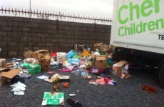 A lorry full of donations for Chernobyl children was trashed in Kilkenny