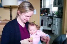 This baby thinks her Mam eating crisps is absolutely hilarious