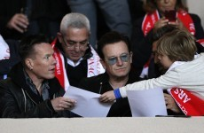 Bono looked unimpressed as Arsenal exited the Champions League tonight