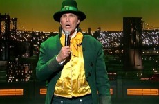 Will Ferrell dressed up as a leprechaun and sang Danny Boy for St Patrick's Day