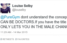 A gym assumed a woman was a man because she was a Doctor and it's causing a storm