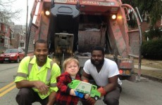 The moment this little kid met his binmen heroes is utterly adorable
