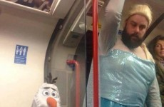 The best dad ever dressed as Elsa to take his daughter to a Frozen singalong