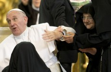 Nuns let out of convent to meet Pope. All hell breaks loose!