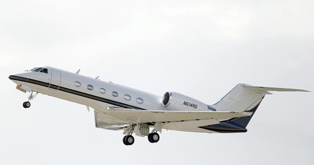 The Gulfstream IV had been out of