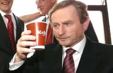Has Enda Kenny never seen a cup before?