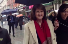 Burton returns to Dunnes where she used to work to show solidarity with workers