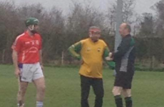 67-year-old goalkeeper Johnny McEvoy wasn't going to let his club down on Easter Sunday