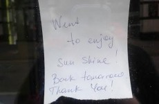 This Galway shop had the most typically Irish reaction to the bit of sun