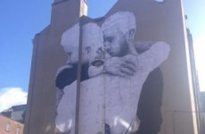 A massive same-sex marriage mural appeared overnight in Dublin city