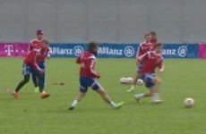 Bayern's training ground game of possession piggy in the middle will leave you in a trance