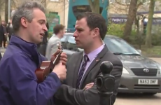"""F**k off back to Eton"" - Man uses ukulele to serenade David Cameron"