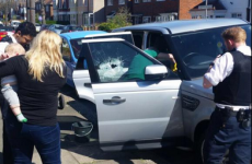 Police rescue baby trapped in car on hottest day of the year