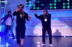 Two former Liverpool stars have teamed up to perform a hip-hop classic