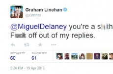 Graham Linehan ate the head off an Irish journalist who criticised Father Ted last night