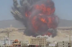 Video captures Yemeni arms dump being completely blown apart