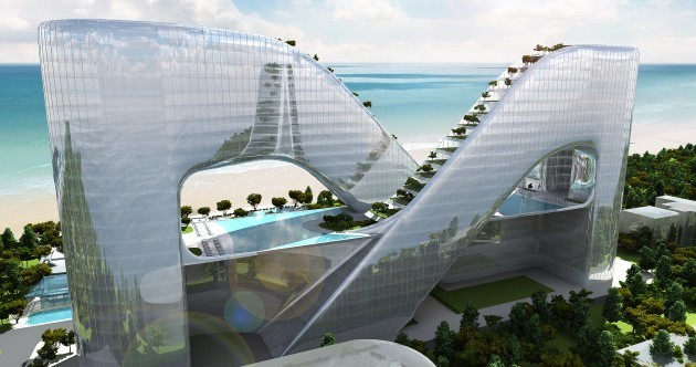 This futuristic seaside resort has been inspired by plankton