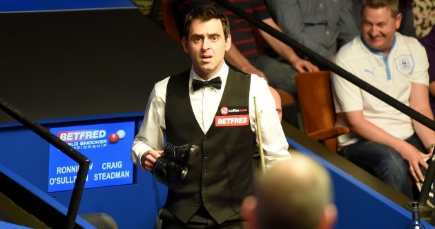 Ronnie O'Sullivan plays Crucible opener in his socks, borrows shoes from tournament director