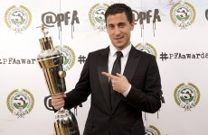 It was a good night for Eden Hazard and Harry Kane at the PFA awards