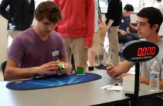 Watch this kid solve a Rubik's Cube in 5.25 SECONDS