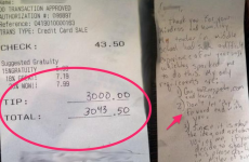 Waitress gets $3,000 tip after telling customer she was about to be kicked out of her apartment
