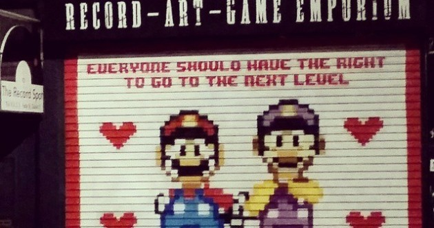 This Dublin gaming shop's new equality shutter is perfectly apt