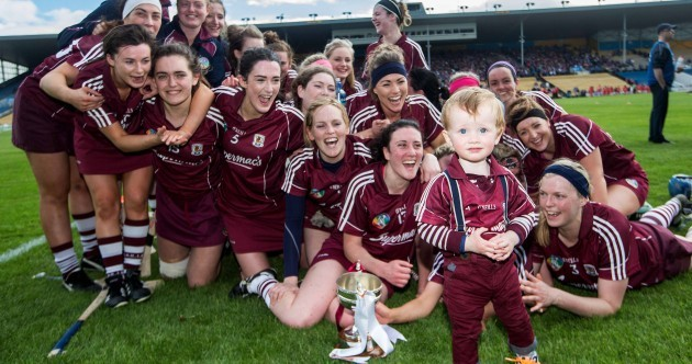 The mascot of the weekend award goes to this young Galway fan