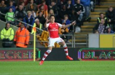 Two deflections and one beauty saw Arsenal push Hull closer to the Championship