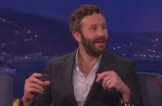 Chris O'Dowd was on Conan last night and told him about the evil prank he's playing on his baby