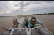 This footage of a plane narrowly missing a fishing boat isn't for the faint-hearted