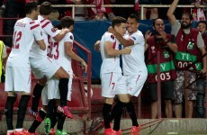 Holders Sevilla have one foot in the Europa League final, Benitez's Napoli concede late